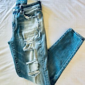 NWT AE Distressed Jeggings